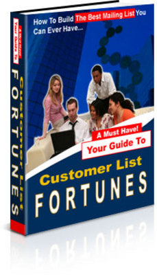 Product picture Customer List Fortunes - Make Money Online